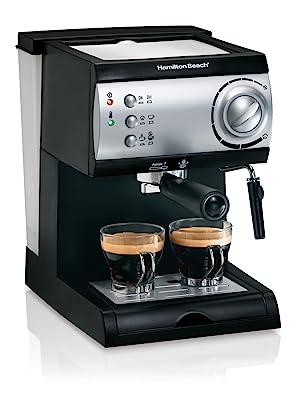 Hamilton Beach Espresso Máquina con vaporizador - Cafetera de café