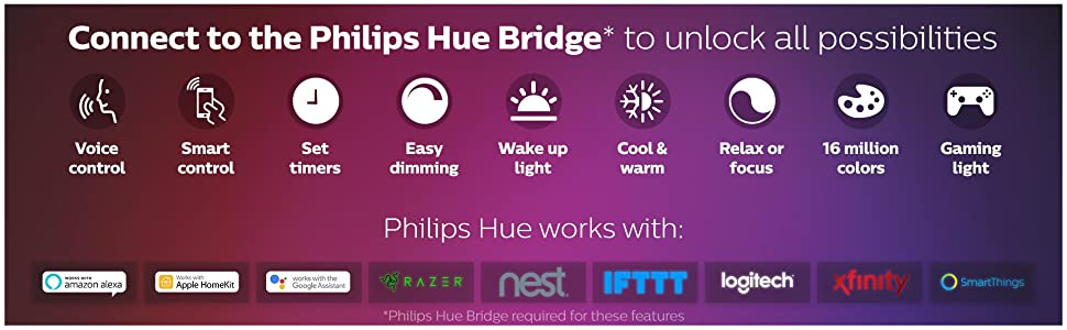 white and color ambiance, smart light, smart bulbs, hue bulb,hue bridge,philips hue starter kit