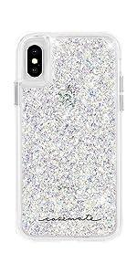 hot sales fd8d5 ccd99 Amazon.com: Case-Mate - iPhone X Case - Twinkle - Reflective Foil ...