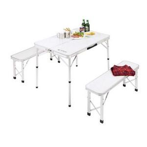 キャプテンスタッグ(CAPTAIN STAG) BBQ用 机 椅子 ラフォーレ ベンチ インテーブルセットUC-5