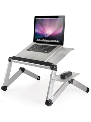 WorkEZ Cool adjustable height ergonomic laptop lap desk cooling stand