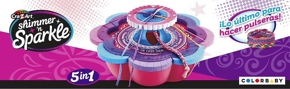 Shimmern Sparkle Taller de brazaletes y Pulseras 5 en 1 (ColorBaby 46290)
