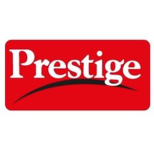 Prestige Aluminum Pressure Cooker, 5 Litres, Charcoal Black Logo