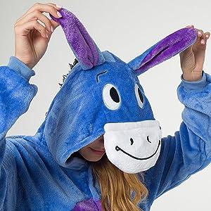 Taille S 145-155cm Abeille Katara 1744 Grenouill/ère Combinaison pour Adultes Tenue de Nuit Pyjama Kigurumi Costume