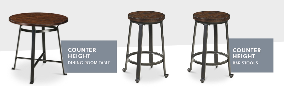 Signature Design By Ashley Challiman Counter Height Bar Stool Rustic Brown Furniture Decor