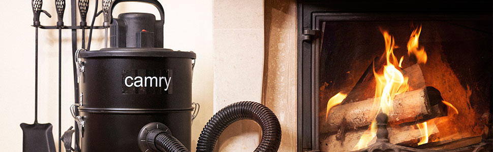 Camry CR-7030 Aspirador de Cenizas con Filtro HEPA, 25 litros, 1200 W, Aluminio, Negro, Talla única: Amazon.es: Hogar