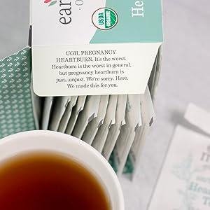 herbal, pregnancy safe, caffeine-free, indigestion, reflux, lemon balm, spearmint, chamomile