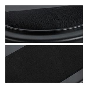 Relaxdays, Negro, 5,5 x 44 x 32 cm Soporte Portátil para Regazo con Cojín, Plástico-Poliéster