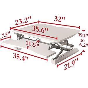 airlift sevilleclassics sit stand standing stand up desk table platform riser lifter pneumatic gas