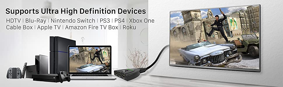 HDMI switch 3 port device TV