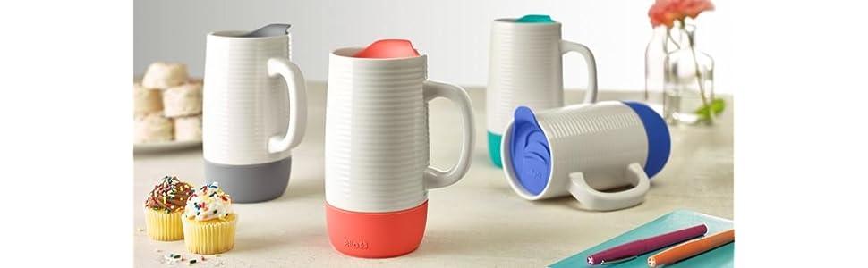 amazon com ello jane ceramic travel mug with spill resistant slider