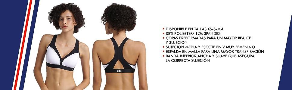 Champion The Curvy Sujetador Deportivo para Mujer: Amazon.es: Ropa ...