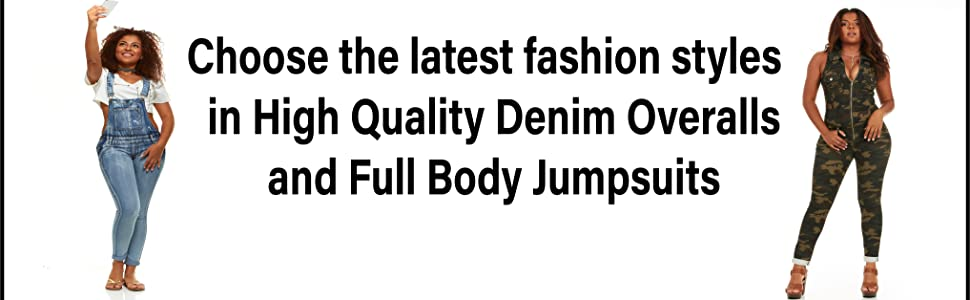 Jeans Overalls and denim jumpsuits for women on sale