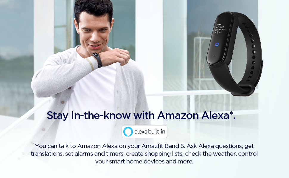 Band 5 Fitness and Activity Tracker with Alexa Built-In