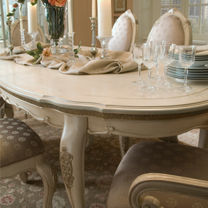 oval dining table, luxury