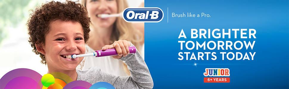 Oral B Junior Electric Rechargeable Toothbrush Powered By