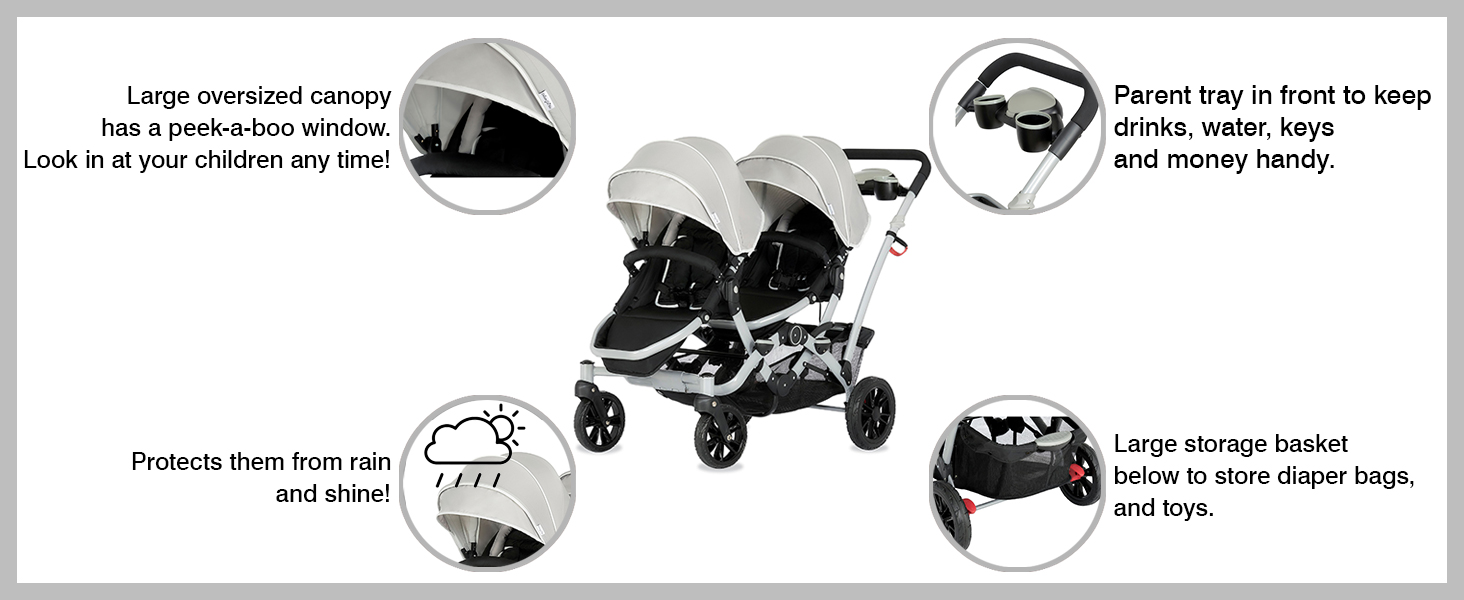 baby strollers, strollers for babies, 5 point safety strollers, strollers with adjustable handles