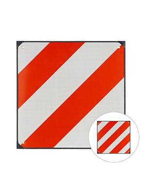 Relaxdays Warntafel Italien Spanien 50x50cm 2in1 Warnschild Reflektierend Für Fahrradträger Aluminium Rot Weiß Auto