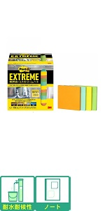 スリーエム ポストイット 付箋 エクストリームノート 耐水耐候性 屋外使用可能 76×76mm 45枚 12パッド 4色 EXTRM33-12ASJ1