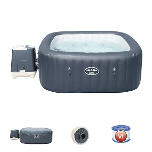 Bestway Lay-Z-SPA Hawaii HydroJet Pro - Jacuzzi autohinchable Rectangular, Gris, 180 x 180 x 71 cm: Amazon.es: Jardín