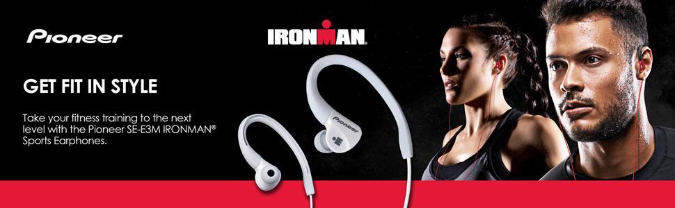 Pioneer IRONMAN SE-E3M Sports Earphones