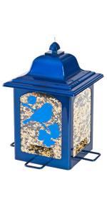 Blue Sparkle Lantern Bird Feeder