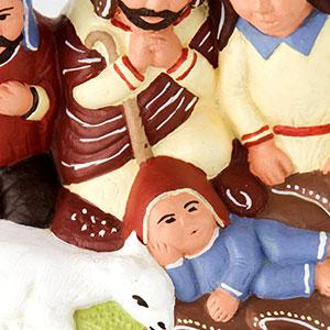 NOVICA 216453 Christmas in A Reed Canoe Ceramic Nativity Scene Figurine