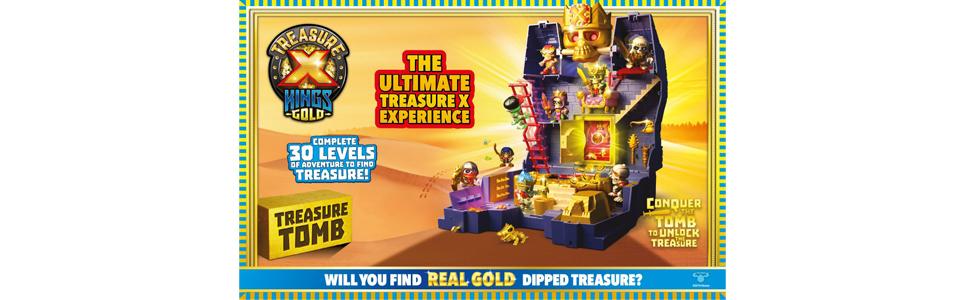 Trésor X Tomb Kings Gold Playset Kids Indoor activité Imaginative jeu jouet neuf