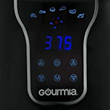 Image of the digital display featured on the Digital Air Fryer from Gourmia.