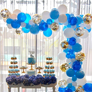 Amazon PartyWoo Blue Gold And White Balloons 70 Pcs 12 Inch