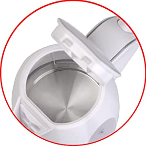 Adler AD-1207 Hervidor de Agua El/éctrico 2000W 1.5 litros Blanco 2000 W 1,5 L 0 Decibeles Base Giratoria Libre de BPA