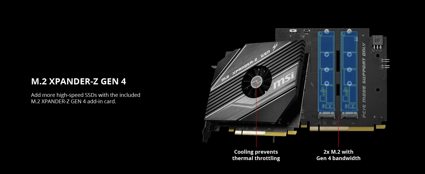 msi meg x570 godlike m.2 xpander-z gen 4 m.2 ssd frozr heatsink cooling thermal throttling