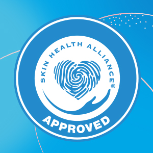Dermatologically Approved by Skin Health Alliance
