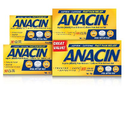 Anacin Aspirin Free Ingredients