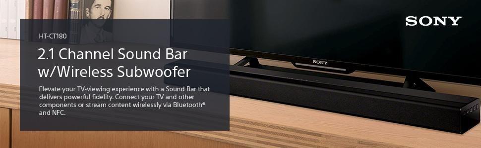 Amazon.com: Sony HT-CT180 2.1 Channel Sound Bar w/Wireless