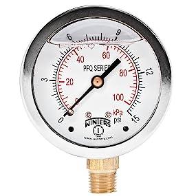 Pressure Gauge, Pressure Gauges, Liquid Filled Pressure Gauges, Stainless Steel Case Gauges