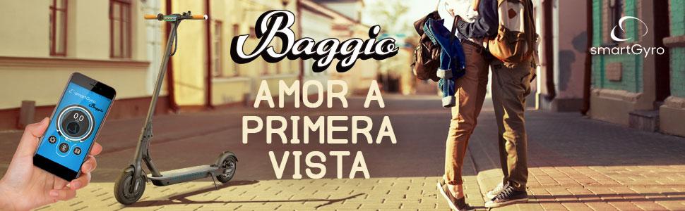 SMARTGYRO Xtreme Baggio Black - Patinete Eléctrico, App, Ruedas 8,5