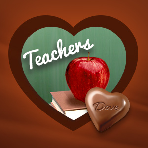 Give a teachers gift that is special, such as DOVE Chocolate Truffles.