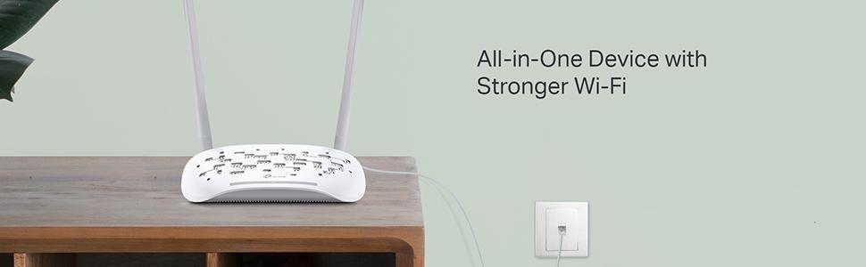 Tp-link Router wireless wi-fi wifi tplink 300Mbps modem ADSL2+ Networking TD-W8961N Antenna LAN WAN