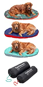 outdoor; camping; travel bed; stuff sack; dog; cat; pet; bed