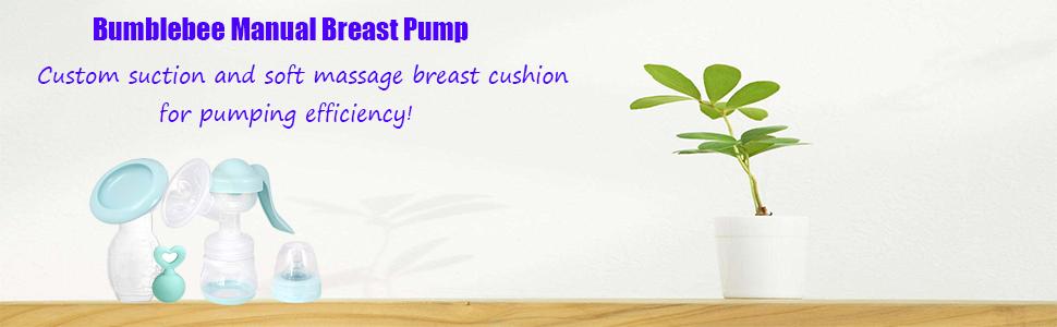 Bumblebee Breast Pump Manual Breast Pump Breastfeeding Collection Cups Pink Pump