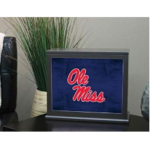 Mississippi Rebels Colored Logo Collage Light Box Insert