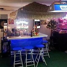man cave, tiki bar, portable bar, football games tailgating, auto races, beach, tiki bar,