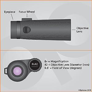 Opticron 30665 Oregon 4 Pc 8x32 Fernglas Schwarz Kamera
