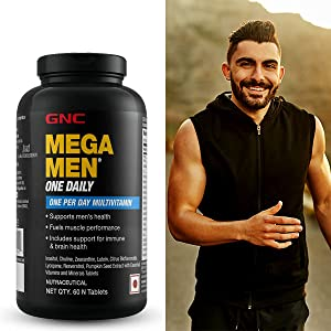 GNC, Mega Men, Multivitamin, Multivitamins, Men's Multivitamin, Immunity, Immune, Vitamin Supplement