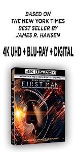 first man, neil armstrong, best seller, ryan gosling, damien chazelle, 4k, dvd, bluray, movie, space