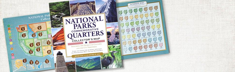 National Parks Commemorative Quarters Collectors Map - Us map for collecting quarters
