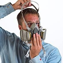 6300 disposable respirator mask