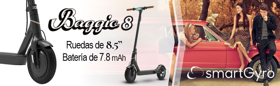 SmartGyro Xtreme Baggio 8 Black V 2.0 - Patinete Eléctrico ...