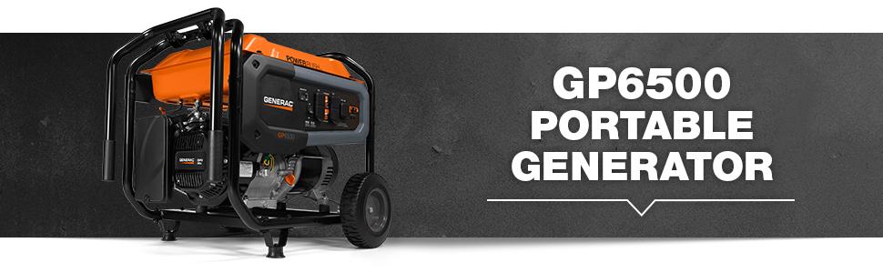 Generac, Generator, Portable, GP6500